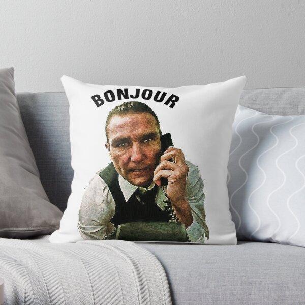 """BONJOUR"" Vinnie Jones Big Chris. Bullet Tooth Throw Pillow"