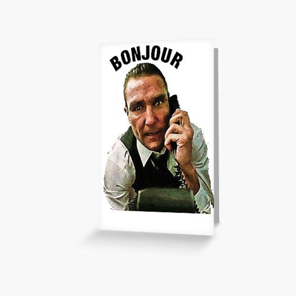 """""""BONJOUR"""" Vinnie Jones Big Chris. Bullet Tooth Greeting Card"""