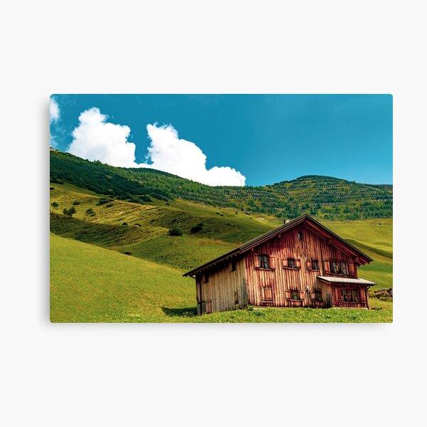 A view of Malbun in Liechtenstein Canvas Print