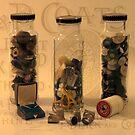 Three Button Jars by Sandra Foster