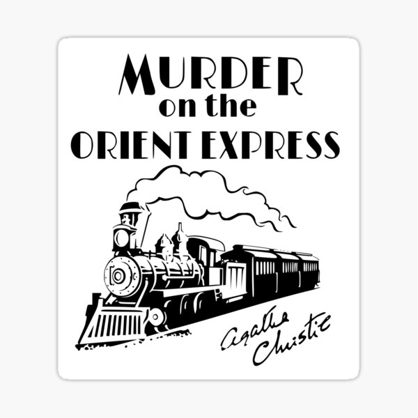 Murder on the Orient Express Agatha Christie book cover Sticker