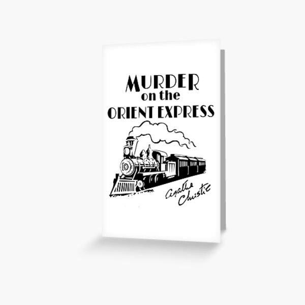 Murder on the Orient Express Agatha Christie book cover Greeting Card