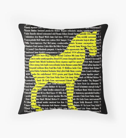 """The Year Of The Horse"" Cards Throw Pillow"