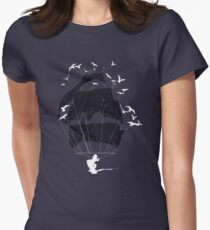 Tethered - wakeboarding pirate Womens Fitted T-Shirt