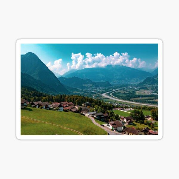 Buildings in Triesenberg , Liechtenstein Sticker