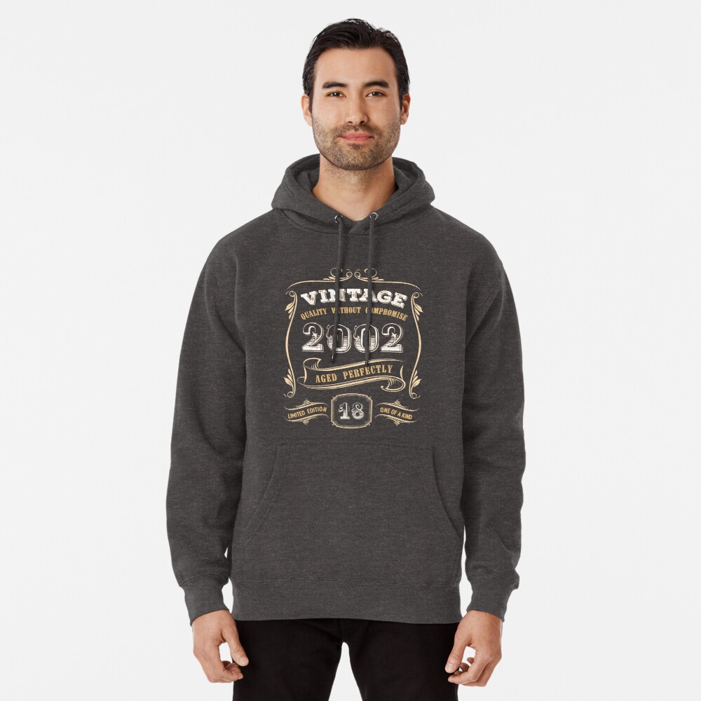 Legends Vintage Made in March 2001 18th Birthday Gift 18 Years Old Hooded Sweatshirt