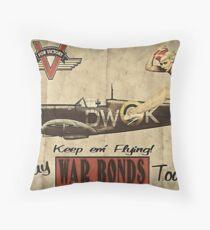 Vintage / Retro Pin Up Propaganda Throw Pillow