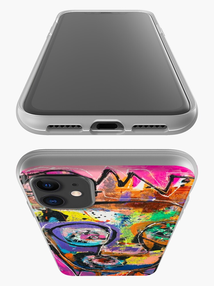 Alternate view of Neoexpressionism, art brut, spontaneous art, black and Colors, free figuration iPhone Case & Cover