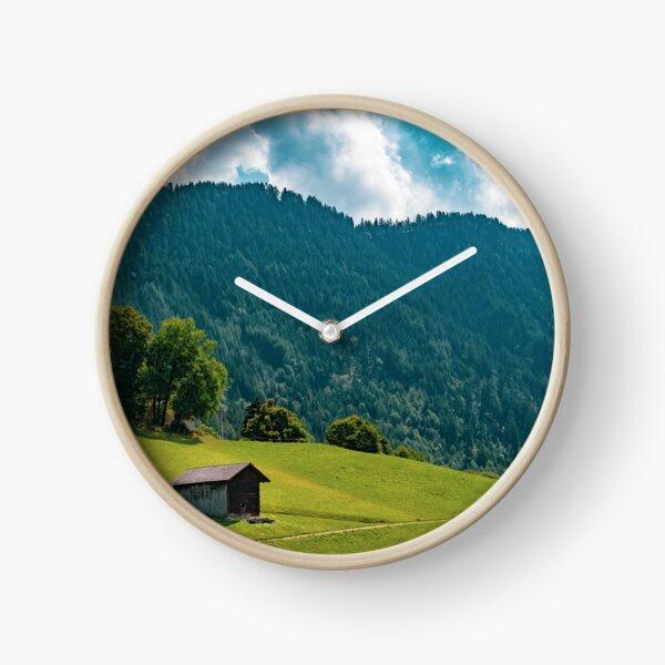 Mountains in Liechtenstein Clock