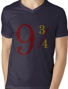 Nine and Three Quarters Mens V-Neck T-Shirt