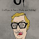 Michael Caine Birthday Card by PeteSongi