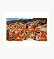 The  rooftops of Skiathos  Art Print