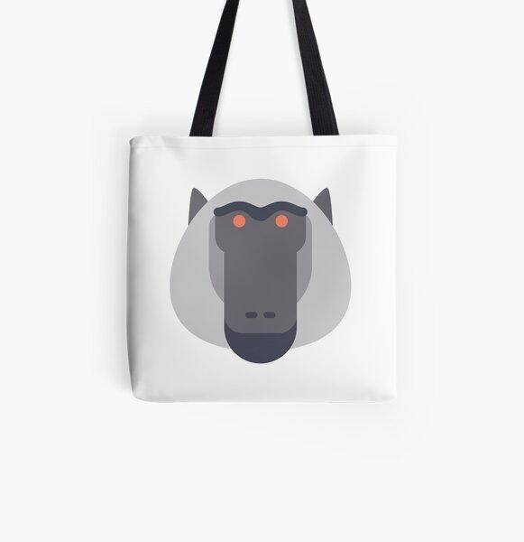 Baboon All Over Print Tote Bag