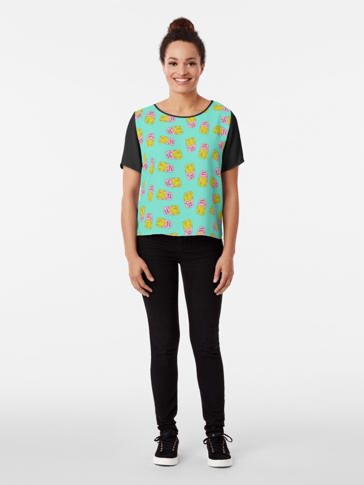 Alternate view of National French Fries Day Chiffon Top