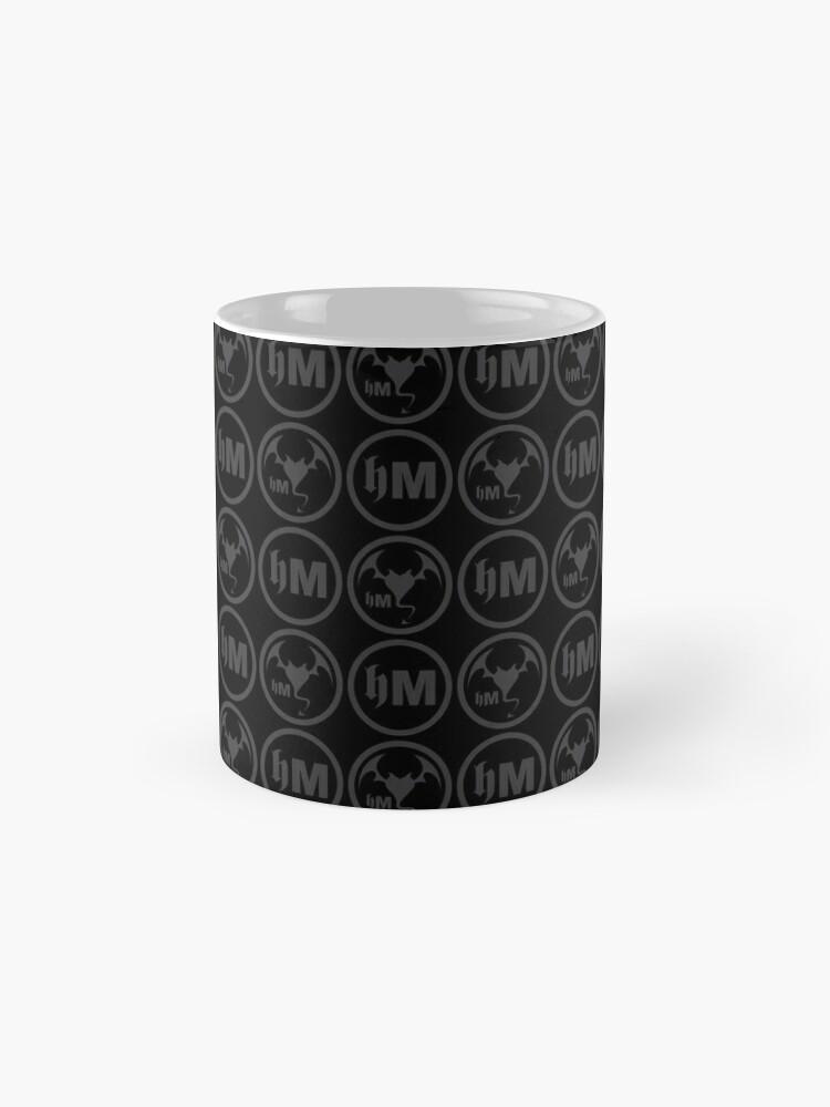 Alternate view of Hollywood Monsters Pattern - DARK GREY Mug