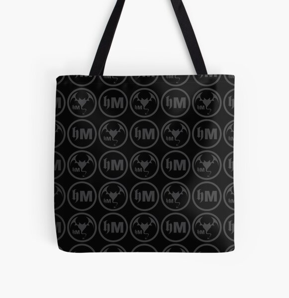 Hollywood Monsters Pattern - DARK GREY All Over Print Tote Bag