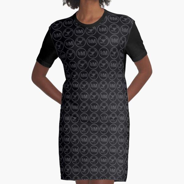 Hollywood Monsters Pattern - DARK GREY Graphic T-Shirt Dress
