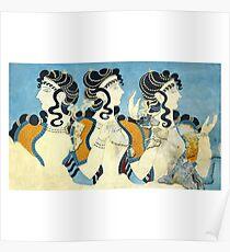 Ancient Minoan Women Poster