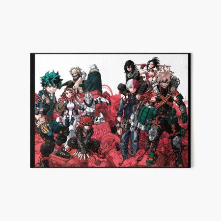 My Hero Academia Popularity Poll Art Board Print