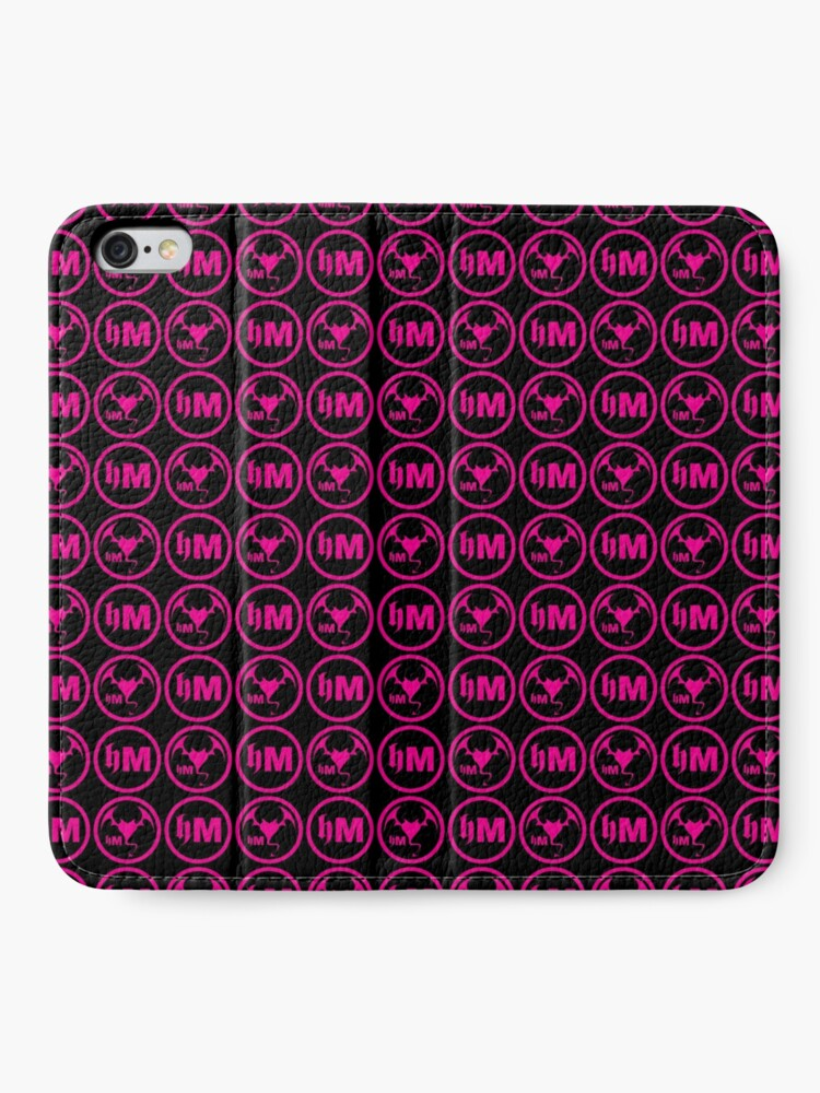 Alternate view of Hollywood Monsters Pattern - PINK iPhone Wallet