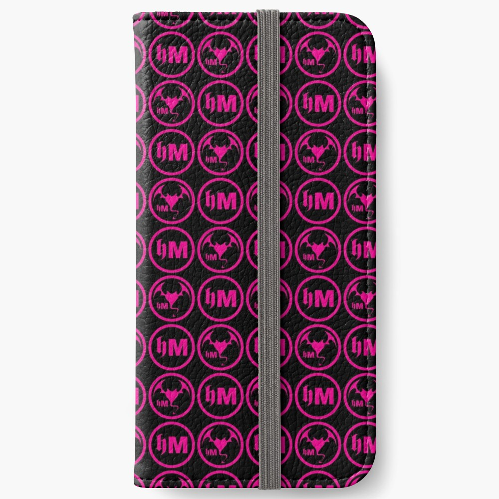 Hollywood Monsters Pattern - PINK iPhone Wallet