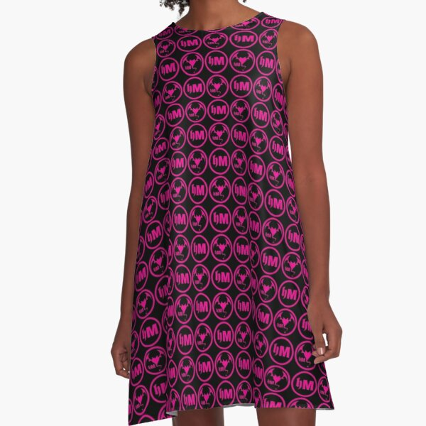 Hollywood Monsters Pattern - PINK A-Line Dress
