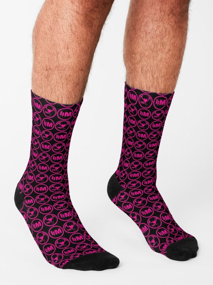 Alternate view of Hollywood Monsters Pattern - PINK Socks