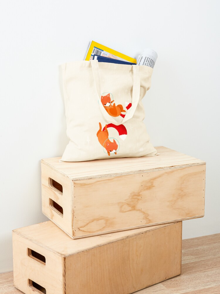 Alternate view of Space Foxes Tote Bag
