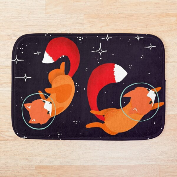 Space Foxes Bath Mat