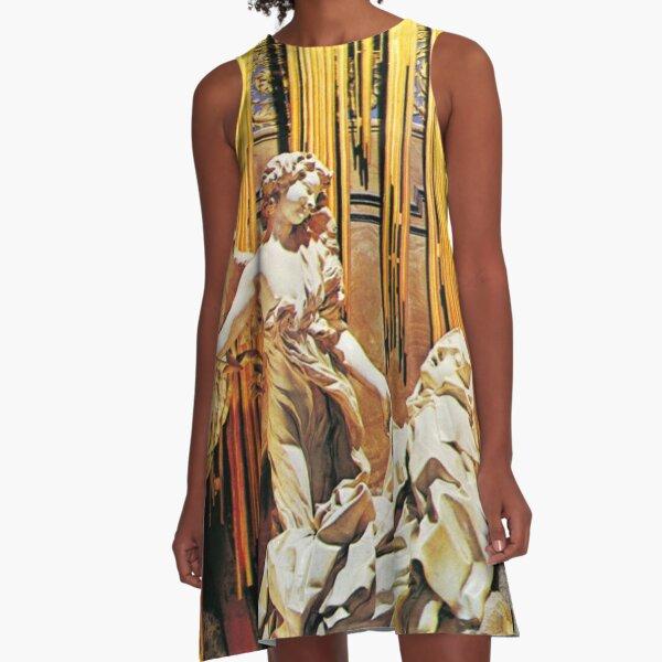 The Pure Ecstacy of St Teresa von Avila by Bernini A-Line Dress