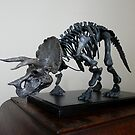 Triceratops Skeleton Sculpture by Wayne Dowsent