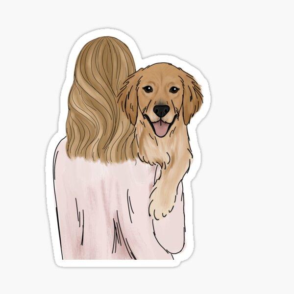 Golden Retriever Dog Mom Sticker