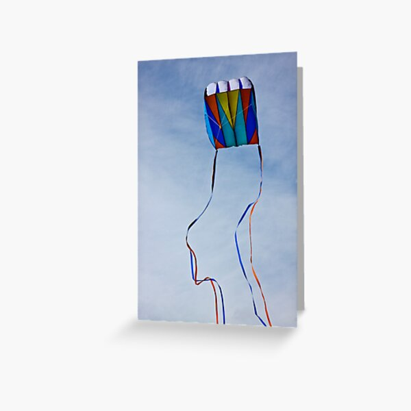Colourful Kite Tails Greeting Card