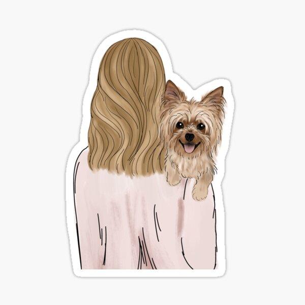 Yorkie Dog Mom Sticker