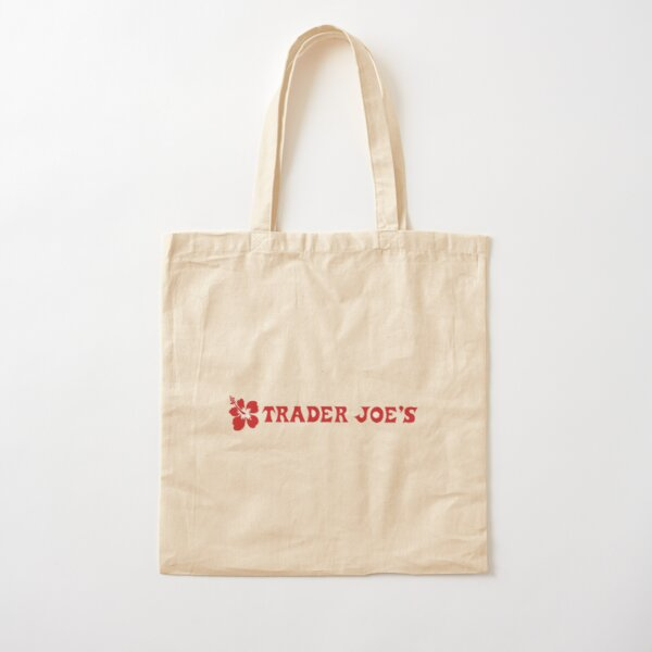 Trader Joe Flower Cotton Tote Bag