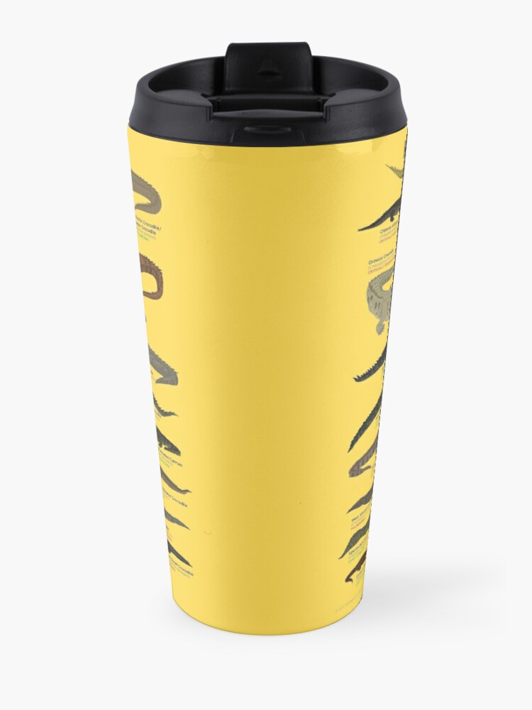 Alternate view of Know Your Crocodilians Travel Mug