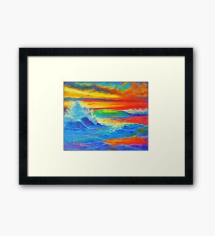 Kreamcycle Sunset Framed Print