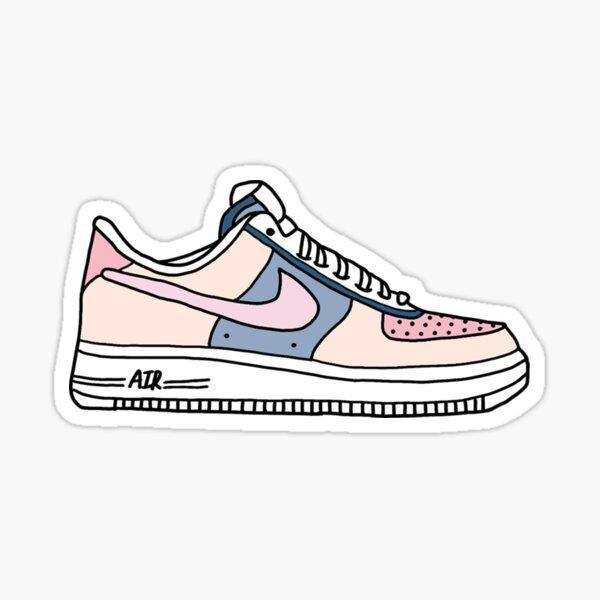 colorful AF1 shoes Sticker