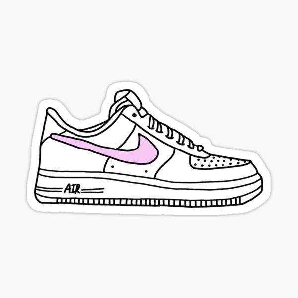 pink AF1 shoes Sticker