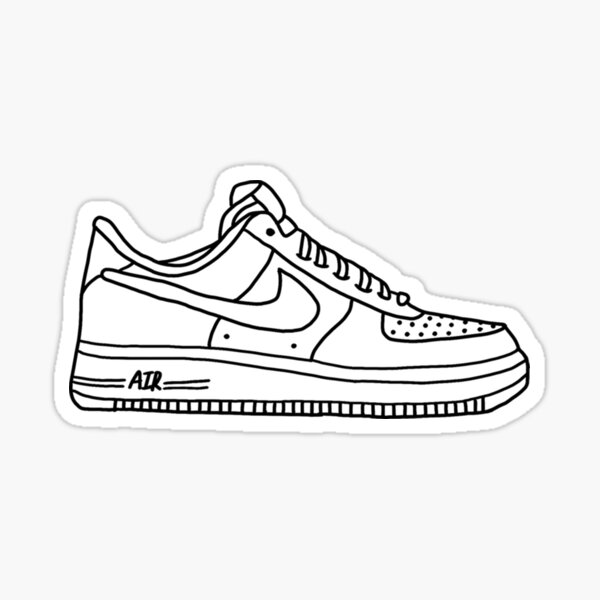 white AF1 shoes Sticker by allyhom