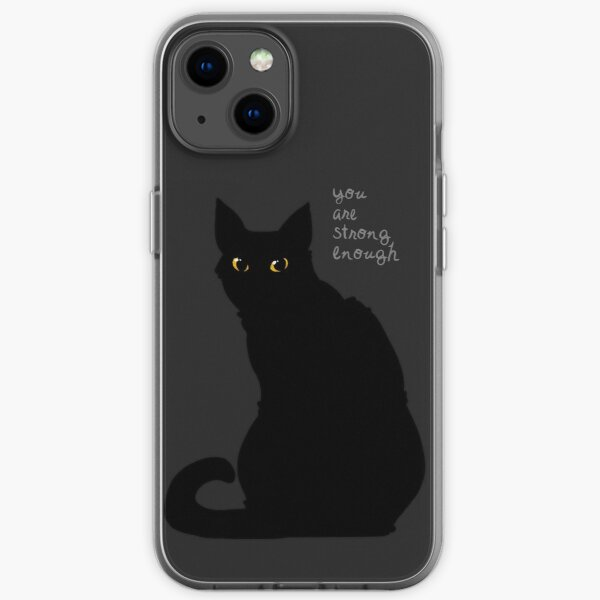 """""""Strong Enough"""" Cat iPhone Soft Case"""