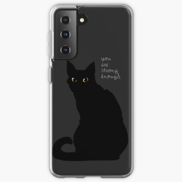 """Strong Enough"" Cat Samsung Galaxy Soft Case"