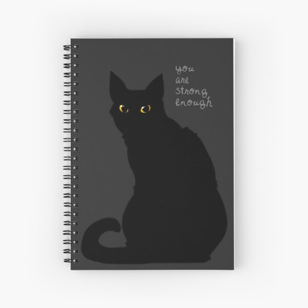 """Strong Enough"" Cat Spiral Notebook"