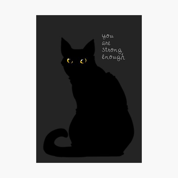 """""""Strong Enough"""" Cat Photographic Print"""