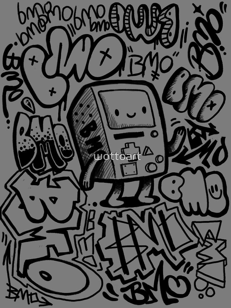 BMO GRAFFITI by wottoart