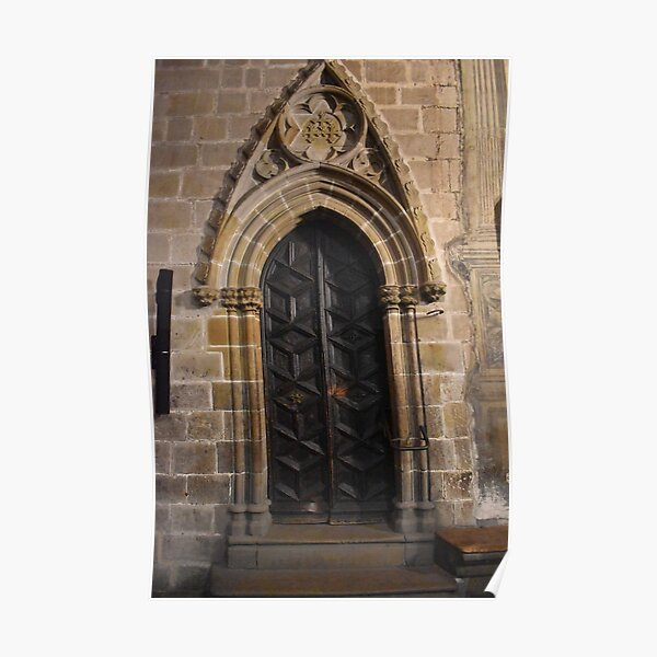 Cloister Door, Barcellona Cathedral of Saint Eulalia Poster