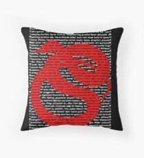 """""""The Year Of The Snake / Serpent"""" Cards Throw Pillow"""