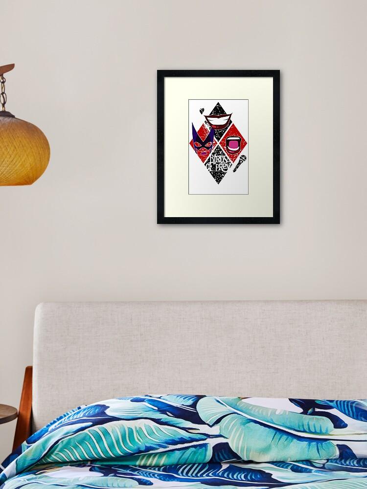 Birds Of Prey Diamond Design Framed Art Print By Rackhamgreg Redbubble