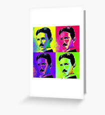 Nikola Tesla Pop Art Greeting Card