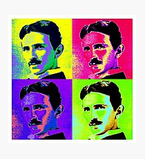 Nikola Tesla Pop Art Photographic Print